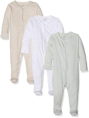 Mamas and Papas Baby Girls' 3Pack Rabbit Sleepsuit