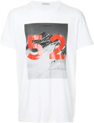 Moncler colour-block print T-shirt