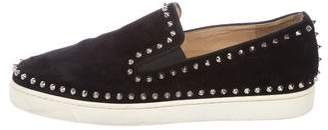 Christian Louboutin Suede Roller-Boat Flat Sneakers