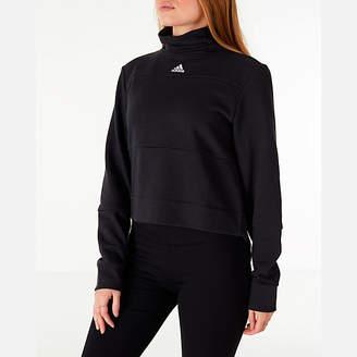adidas Women's Turtleneck Crop Fleece Sweatshirt