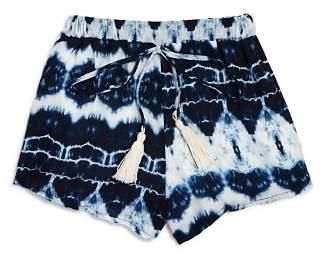 Vintage Havana Girls' Ruffled Tie-Dye Shorts - Big Kid