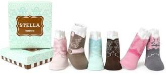 Trumpette Baby Girls Sock Set-6 Pairs, Stella's-Assorted Pastels