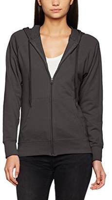 Fruit of the Loom Women's Zip Front Lightweight Hooded Sweat, Light Graphite, 8 (Manufacturer Size:X-Small)