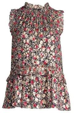 Kate Spade Dashing Beauty Metallic Floral Top