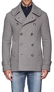 Ralph Lauren Purple Label Men's Merino Wool Double-Breasted Peacoat-Light Gray