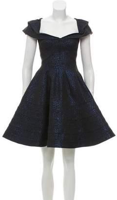 Zac Posen A-Line Metallic Dress w/ Tags