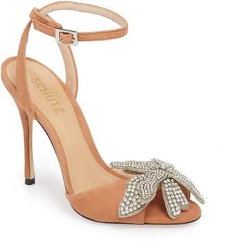 Schutz Ayanne Embellished Flower Sandal