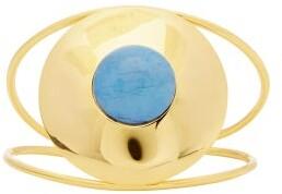 Joelle Gagnard Kharrat - Chapiteau Gold Plated Cuff Bracelet - Womens - Blue