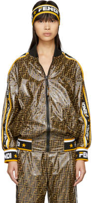 Fendi Reversible Multicolor Mania Bomber Jacket