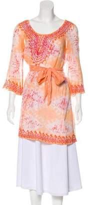 Calypso Tie-Dye Long Sleeve Tunic