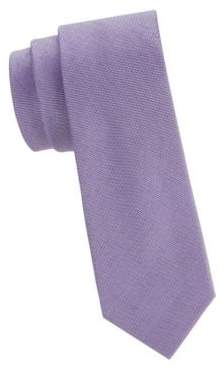 Calvin Klein Textured Silk & Cotton Blend Narrow Tie