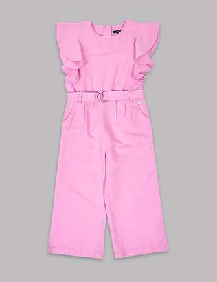 Marks and Spencer Frill Sleeve Jumpsuit with Belt (3-16 Years)