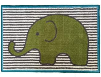 Bacati Elephants Nylon High Pile Plush Rug
