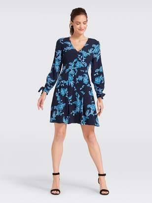 Draper James Geranium Floral Tie Sleeve Dress