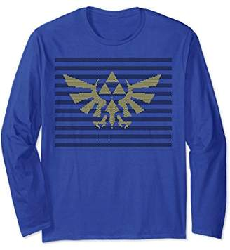 Nintendo Zelda Hylian Triforce Dot Pattern Long Sleeve Tee