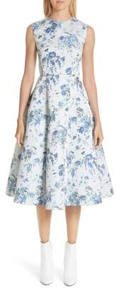 ADAM by Adam Lippes Floral Jacquard Fluted Dress