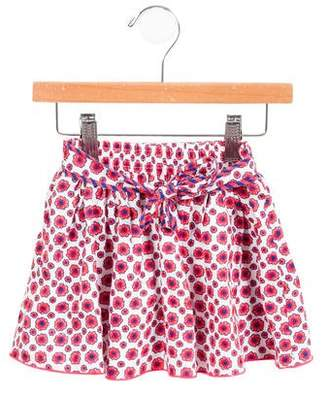Little Marc Jacobs Girls' Floral Tie-Accented Skirt