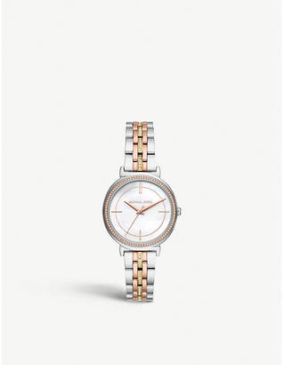 Michael Kors MK3927 Cinthia pave embellished stainless steel watch