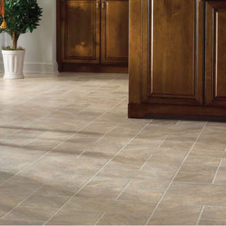 "Armstrong Flooring Castilian Block 16"" x 48"" x 8mm Tile Laminate Flooring in Rambla"