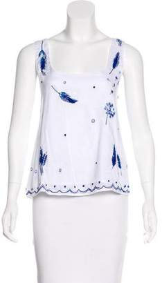 Thierry Colson Sleeveless Embroidered Top