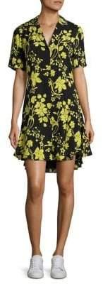 A.L.C. Kayden Floral-Print Silk Shirtdress