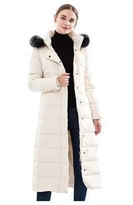 1c202e48ff2 Obosoyo Women s Hooded Thickened Long Down Jacket Maxi Down Parka Puffer  Coat S