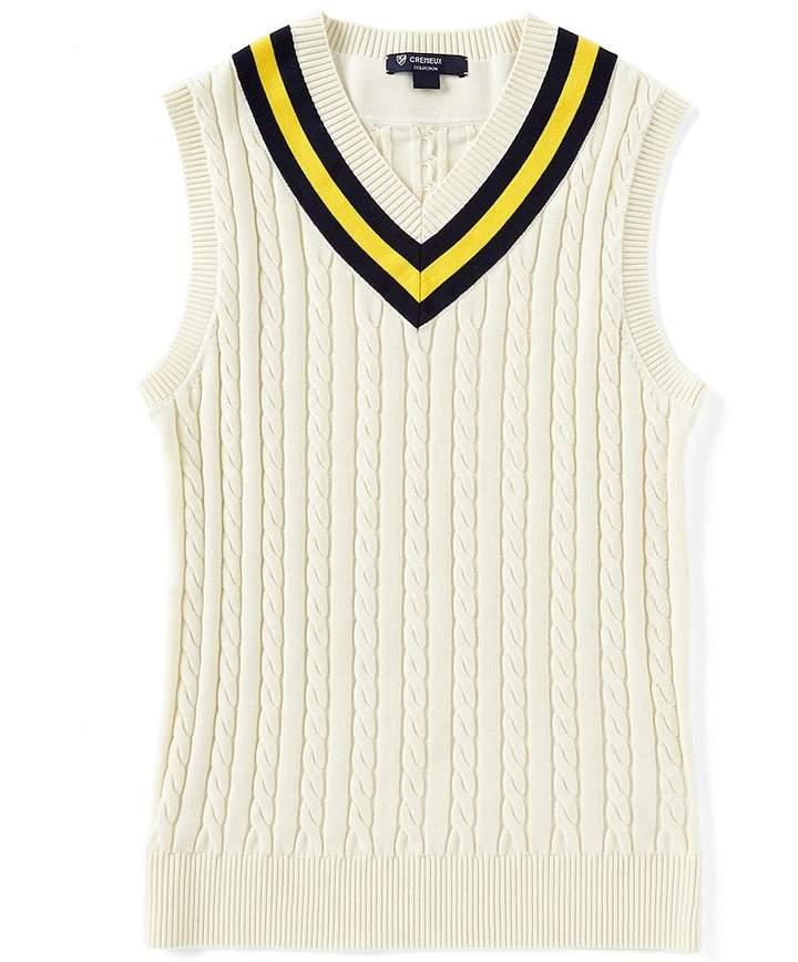 Cremieux Tennis Cable Sweater Vest