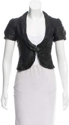 Emporio Armani Leather Short Sleeve Jacket