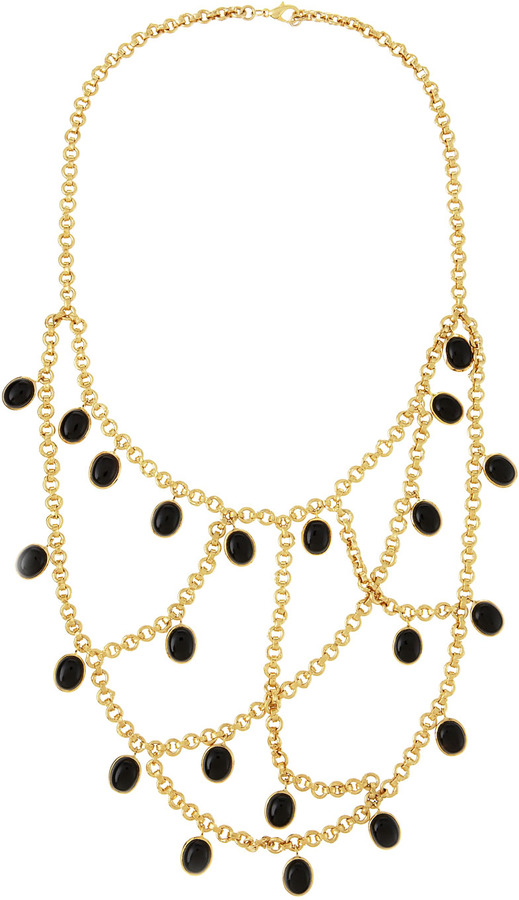 Isharya Onyx Multi-Strand Necklace
