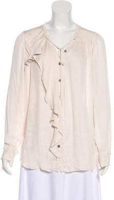 AllSaints Long Sleeve Button-Up Blouse