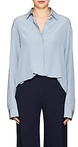 The Row Women's Big Sisea Silk Crêpe De Chine Shirt - Chambray Blue