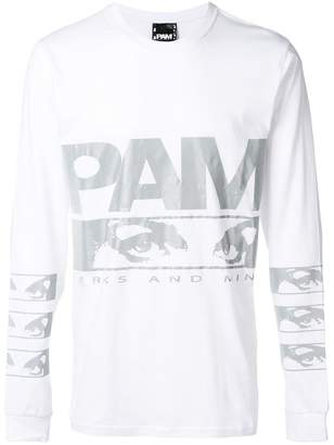 Perks And Mini Pam Aiden graphic print logo top