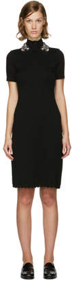 Carven Black Jewelled Collar Dress