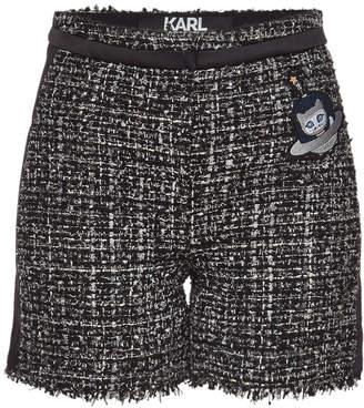 Karl Lagerfeld Paris Space Boucle Shorts