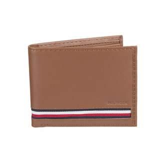 Tommy Hilfiger Men's RFID Blocking 100% Leather Slimfold Wallet -tan Zed One Size