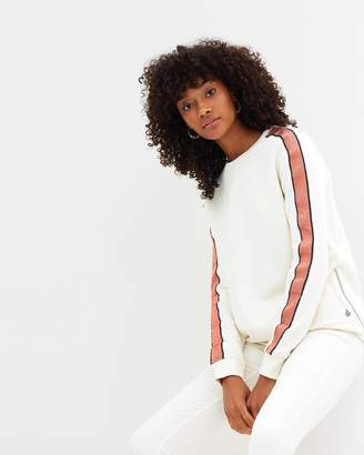 Maison Scotch Sport-Inspired Sweat with Contrast Tapes
