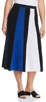 Marina Rinaldi Alburno Color Block Midi Skirt