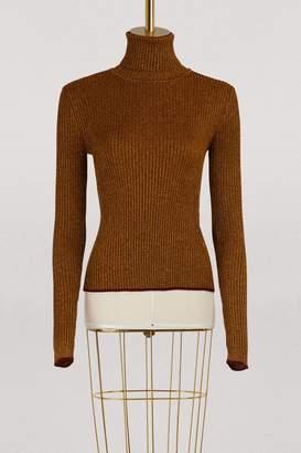 Marco De Vincenzo Turtleneck lurex sweater