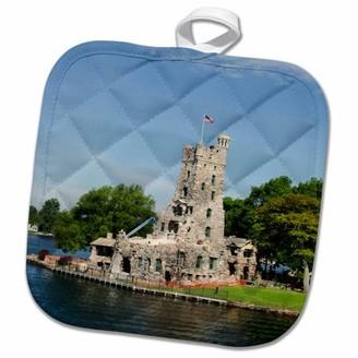 3dRose Boldt Castle, Thousand Islands, New York USA - US33 CMI0183 - Cindy Miller Hopkins - Pot Holder, 8 by 8-inch