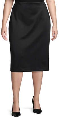 WORTHINGTON Worthington Scuba Skirt - Plus