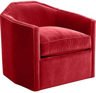 Mr & Mrs Howard Speakeasy Swivel Glider Chair - Cinnabar Velvet