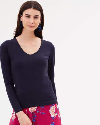 Cotton On Everyday Long Sleeve V-Neck Top