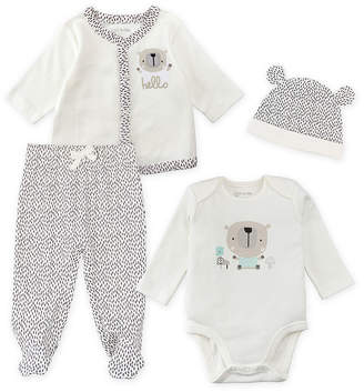 M·A·C MAC AND MOON Mac And Moon 4-Pc Layette Set Pant Set Baby Unisex