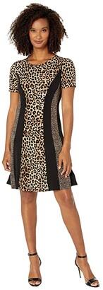 MICHAEL Michael Kors Cheetah Combo Dress