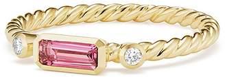 David Yurman Novella Ring in Pink Tourmaline with Diamonds