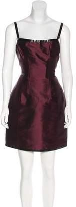 Dolce & Gabbana Vinyl-Accented Silk Dress