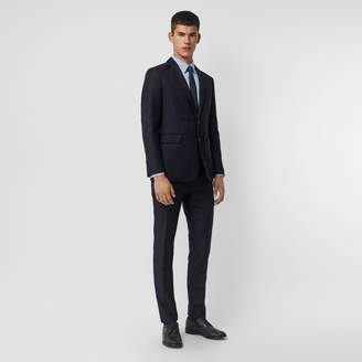 Burberry Slim Fit Wool Mohair Silk Suit , Size: 48R, Blue