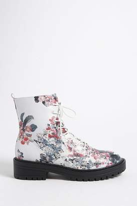 Forever 21 Floral Print Combat Boots