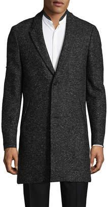 The Kooples Annibale Tweed Wool-Blend Coat