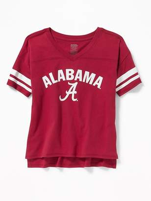 Old Navy College Team Sleeve-Stripe Tee for Girls